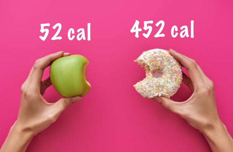 pomme contre donut